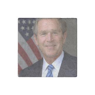 George W. Bush official portrait Stone Magnet