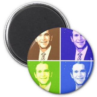 George W Bush Pop Art Magnets