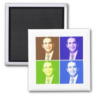 George W Bush Pop Art Square Magnet