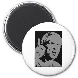 George W Bush silhouette 6 Cm Round Magnet
