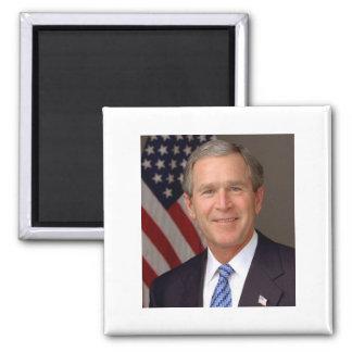 George W Bush Square Magnet
