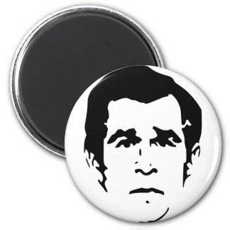 George W. Bush Stencil 6 Cm Round Magnet