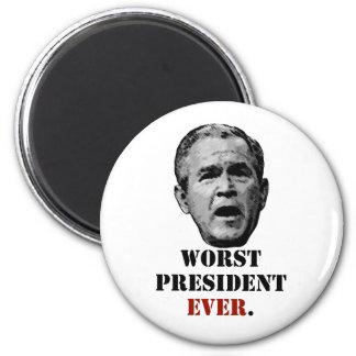 George W. Bush: Worst President EVER. Magnet