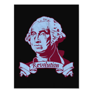 George Washington 11 Cm X 14 Cm Invitation Card