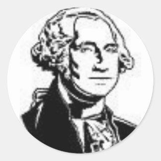 George Washington 1 Round Sticker