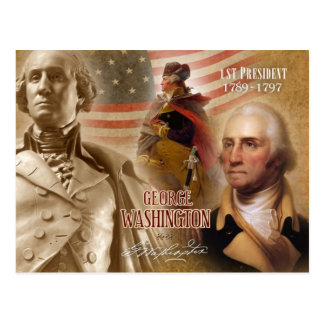 George Washington - 1st President of the U.S. Postcard