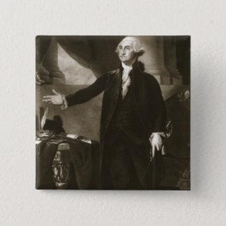 George Washington, 1st President of the United Sta 15 Cm Square Badge