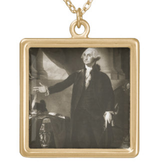 George Washington, 1st President of the United Sta Gold Plated Necklace