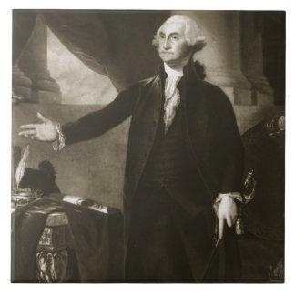 George Washington, 1st President of the United Sta Large Square Tile