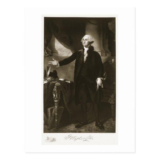 George Washington, 1st President of the United Sta Post Card