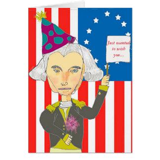 George Washington 4th of July Card
