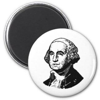 George Washington 6 Cm Round Magnet