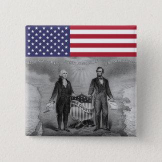 George Washington Abraham Lincoln Patriots USA 15 Cm Square Badge