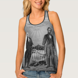 George Washington Abraham Lincoln USA American Tank Top