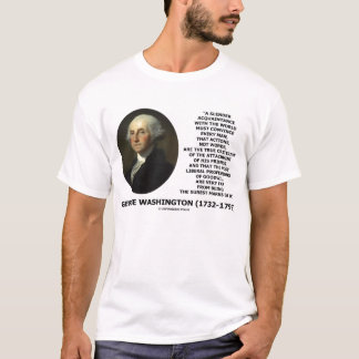 George Washington Actions Not Words Quote T-Shirt