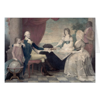 George Washington and His Family greeting card