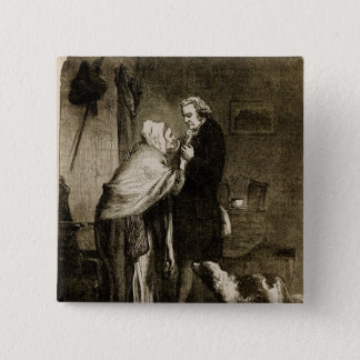 George Washington and his Mother 15 Cm Square Badge