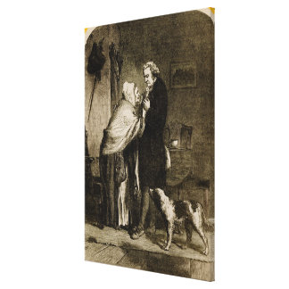 George Washington and his Mother Canvas Print