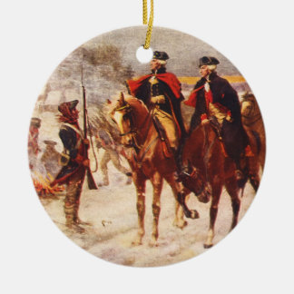 George Washington and Lafayette at Valley Forge Christmas Ornament