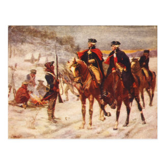 George Washington and Lafayette at Valley Forge Postcard