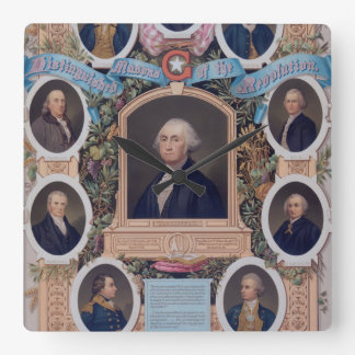 George Washington and The Masons Of The Revolution Square Wall Clock