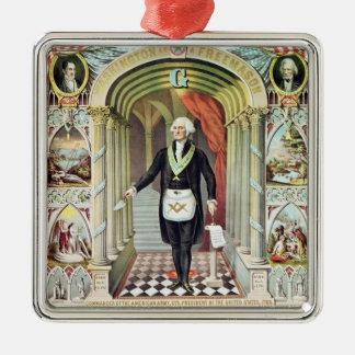 George Washington as a Freemason Christmas Ornament