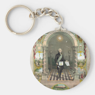 George Washington as a Freemason Key Ring