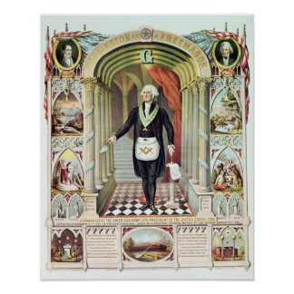 George Washington as a Freemason Poster
