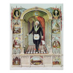 George Washington as a Freemason Posters