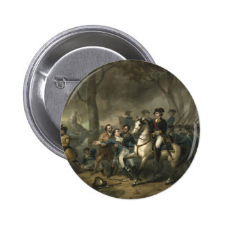"""George Washington as a Soldier"" button"
