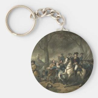 George Washington as a Soldier keychain