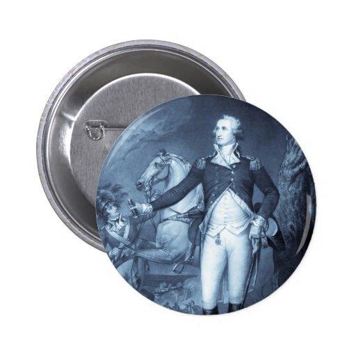 """""""George Washington at Trenton"""" button"""