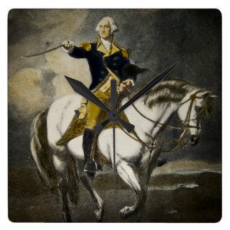 George Washington at Trenton Square Wall Clock