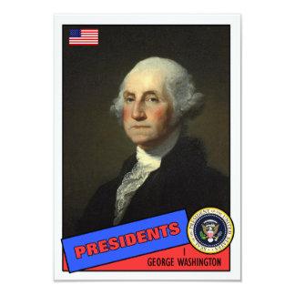 George Washington Baseball Card 9 Cm X 13 Cm Invitation Card