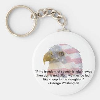 George Washington Basic Round Button Key Ring