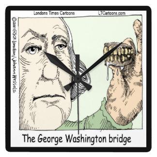 George Washington Bridge Funny Square Wall Clock