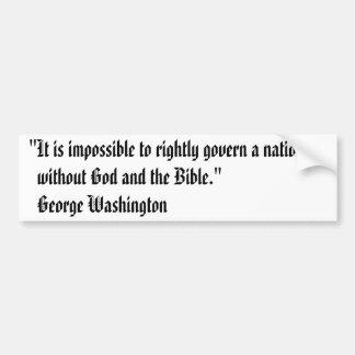 George Washington Bumper Sticker - Bible Car Bumper Sticker