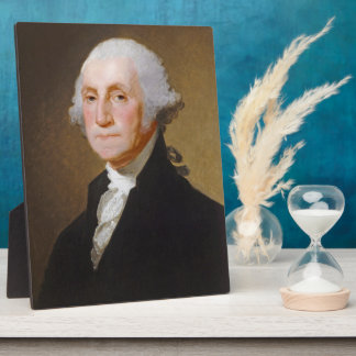 George Washington, c.1821 (oil on canvas) Plaque