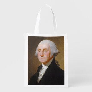 George Washington, c.1821 (oil on canvas) Reusable Grocery Bag