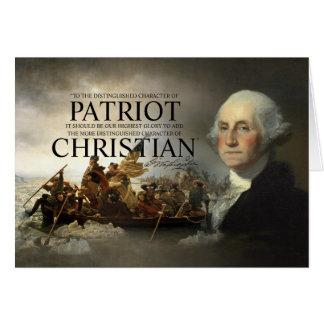 George Washington Christian Greeting Card