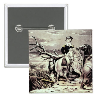 George Washington crossing the Delaware 15 Cm Square Badge