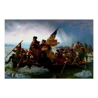 George Washington crossing the Delaware River 1851 Poster