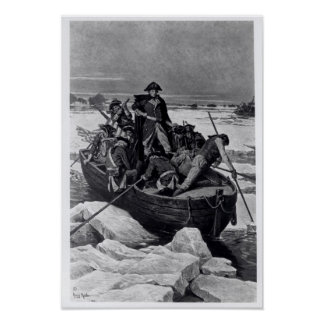 George Washington crossing the Delaware River Poster