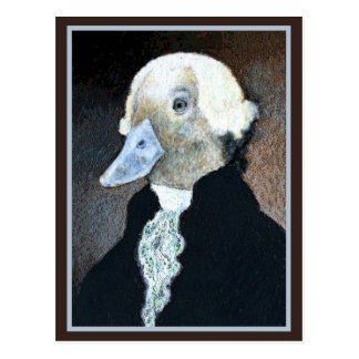 George Washington Duck Post Card