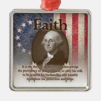George Washington - Faith Christmas Ornament