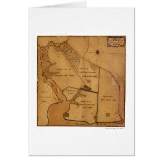George Washington Farm Plan Map - 1766 Greeting Card