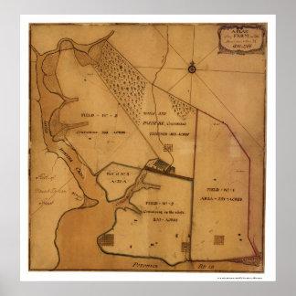 George Washington Farm Plan Map - 1766 Poster