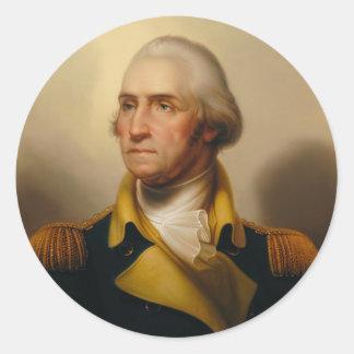 George Washington, First U.S. President Round Sticker