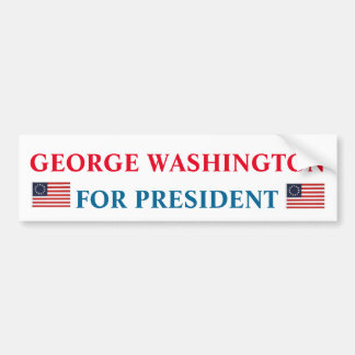 George Washington for President Bumper Sticker