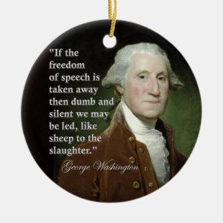 George Washington Freedom of Speech Quote Christmas Tree Ornament